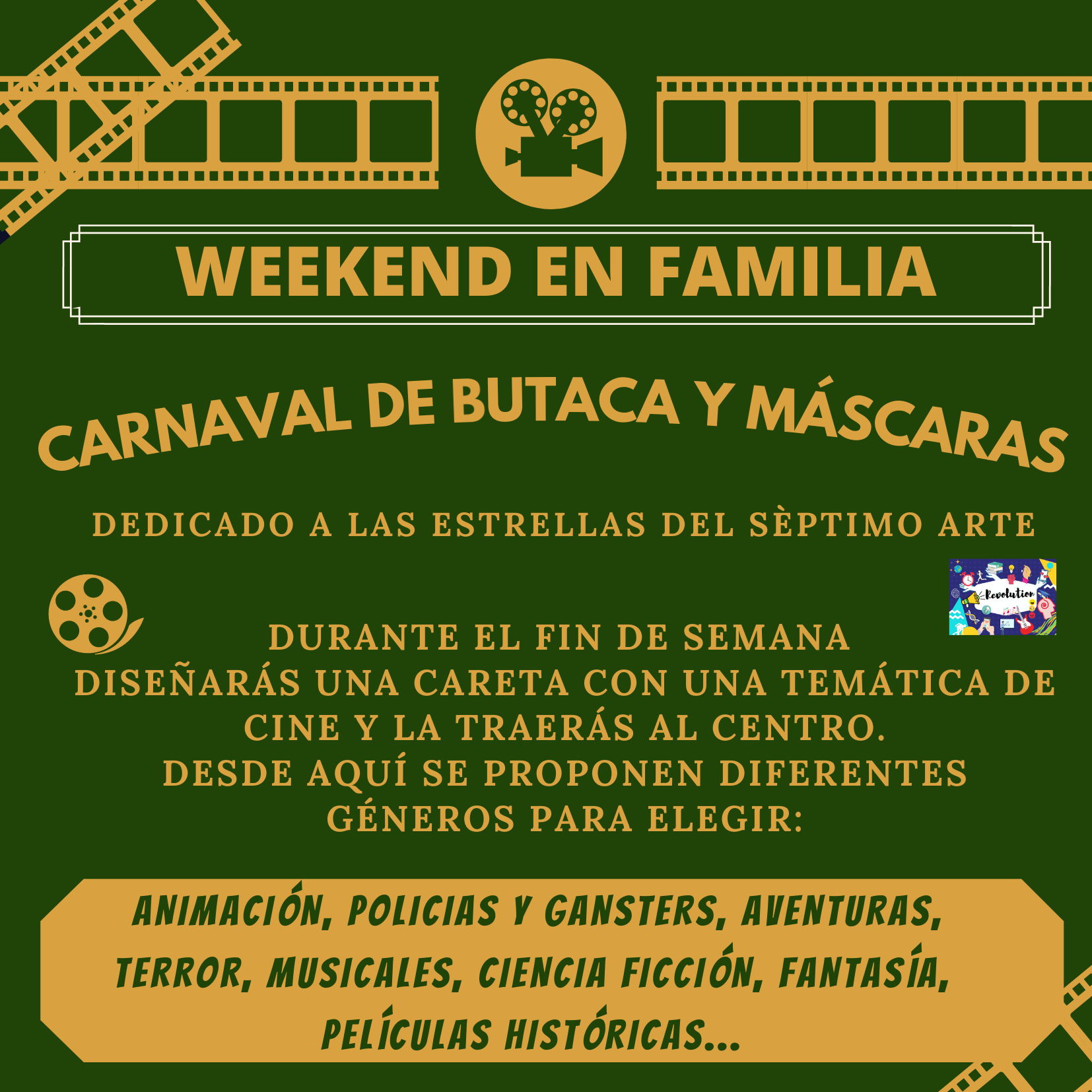 weekend en familia. carnaval